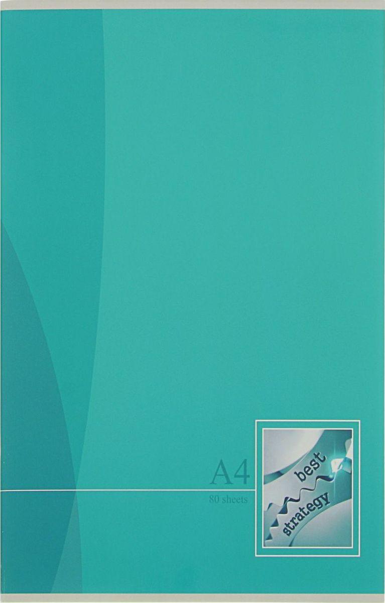 BG Тетрадь Mono Color 80 листов в линейку цвет бирюзовый