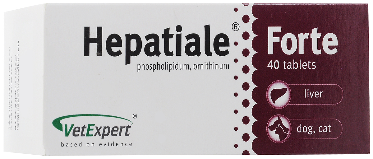 Препарат для кошек и собак VetExpert Hepatiale Forte, для поддержания функции печени, 40 таблеток препарат флексинова где можно купить в омске