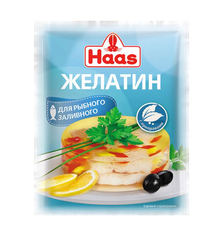Haas желатин с приправами для рыбного заливного, 25 г haas