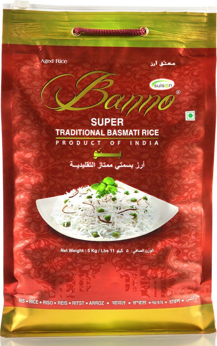 Banno Super Traditional басмати рис, 5 кгBSUT5Супер традиционный рис басмати со своеобразной пушистостью, выдержка риса 1 год, длина риса в приготовленном виде 15,42 мм.
