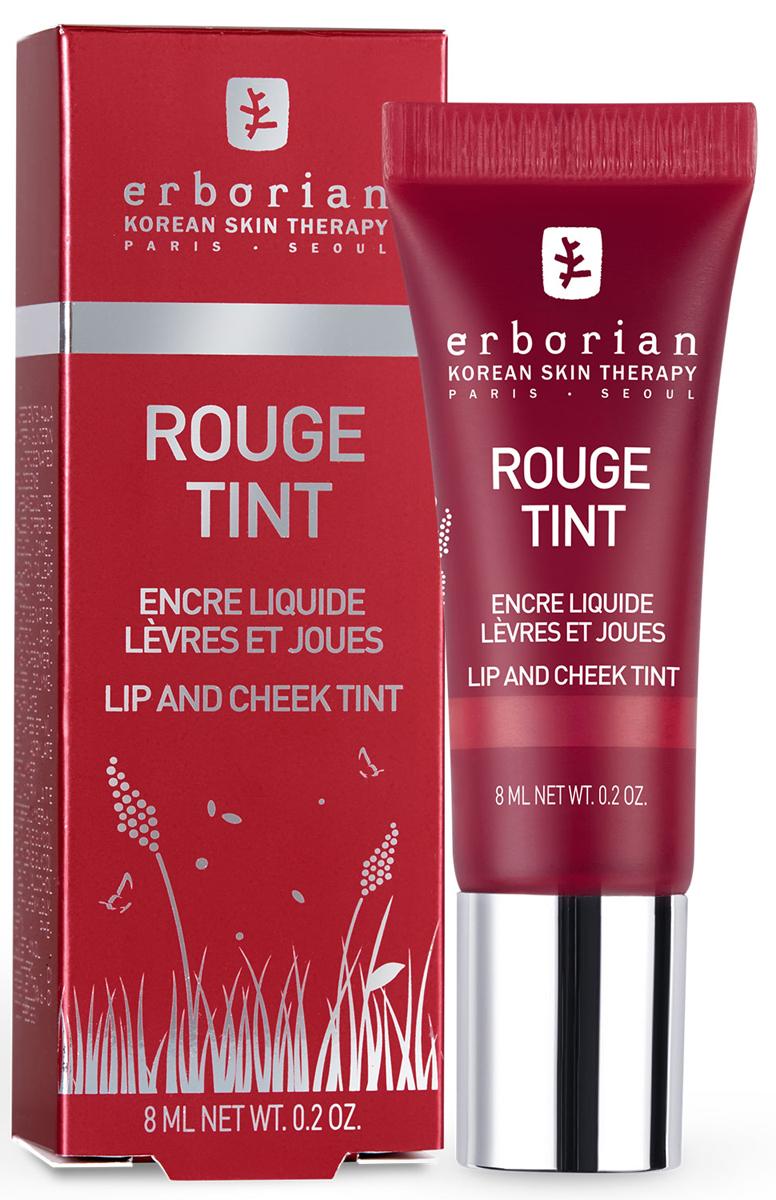 Erborian LIPS Тинт для губ и щёк Красный, 8 мл782530Обогащенный экстрактом камелии, известный своими антиоксидантными свойствами, Тинт 2-в-1 для губ и щек тонко украшает ваш цвет лица и губы. Микрокапсулы масла в сочетании с пигментами в водной формуле дарят вашим губам вкусный, чувственный и естественный оттенок, а щечки приобретают натуральный румянец. Тинт сделает ваш губы очаровательными, а щеки румяными.