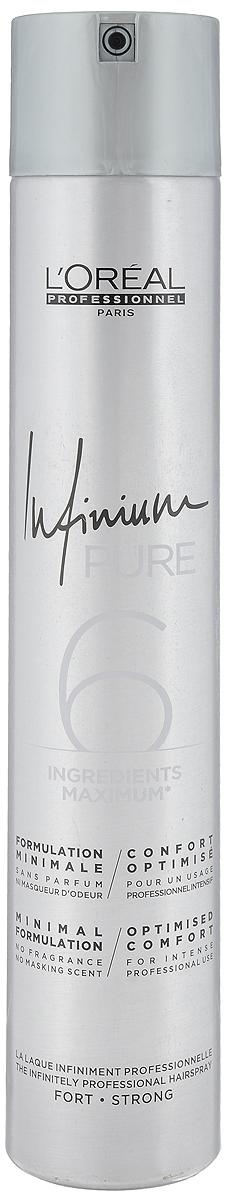 L'Oreal Professionnel Лак сильной фиксации (фикс.3) Infinium Pure Strong, 500 мл strong 210 купить