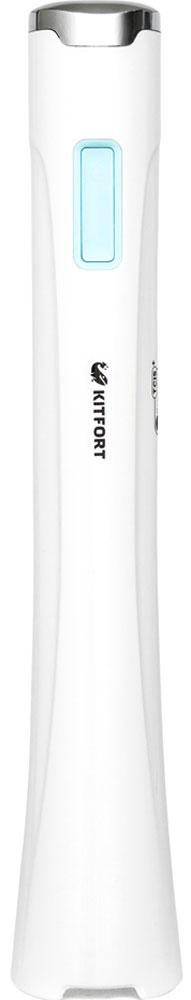 Kitfort КТ-1316-1блендерКТ-1316-1Погружной блендер Kitfort КТ-1316 предназначен для измельчения, смешивания, взбивания, гомогенизации, приготовления крем-супов, пюре, майонеза, соусов, фруктовых напитков, коктейлей, смузи, протеиновых смесей и детского питания, а также для замеса жидкого теста.В дополнение к стандартной защите двигателя от перегрева, в данной модели используется инновационная система TCIS+ - Temperature Condition Identification System (система индикации перегрева). При нагреве двигателя до опасной температуры, индикатор на корпусе меняет цвет.Блендер Kitfort КТ-1316 оснащен двумя скоростями вращения, неразборным корпусом, который удобно держать в руке, и мощным двигателем на 300 Вт.Скорость 1: 7500 об/минСкорость 2: 15000 об/мин