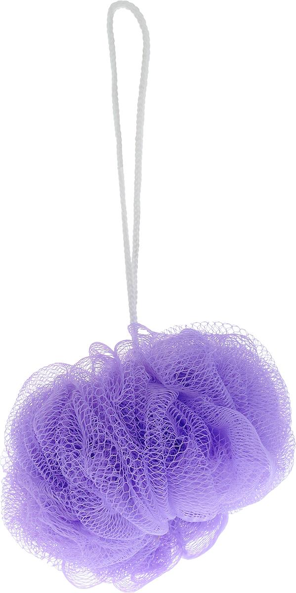 Мочалка массажная Eva Бантик, средней жесткости, цвет: сиреневый, диаметр 12 смМС50_сиреневыйМочалка Eva Бантик, выполненная из нейлона, станет незаменимым аксессуаром в ванной комнате. Благодаря своему составу она отлично пенится. Мочалка оказывает эффект массажа, тонизирует и очищает кожу. На мочалке имеется удобная петелька для подвешивания. Подходит для всех типов кожи и не вызывает аллергию. Диаметр: 12 см.
