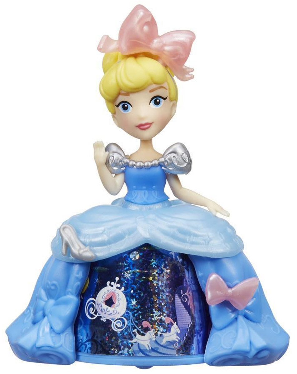 Disney Princess Мини-кукла Золушка в платье с волшебной юбкой hasbro принцессы disney золушка в юбке с проявляющимся принтом b5295