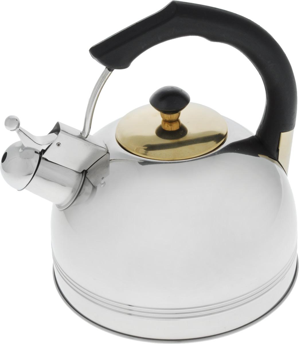 Чайник Bohmann, со свистком, 3 л655BHLBKЧайник Bohmann выполнен из высококачественной нержавеющей стали, что делает его весьма гигиеничным и устойчивым к износу при длительном использовании. Носик чайника оснащен свистком, что позволит вам контролировать процесс подогрева или кипячения воды. Фиксированная ручка изготовлена из бакелита. Зеркальная полировка придает чайнику изысканный внешний вид. Эстетичный и функциональный чайник будет оригинально смотреться в любом интерьере.Подходит для использования на всех типах плит. Можно мыть в посудомоечной машине. Высота чайника (с учетом ручки и крышки): 23 см.Диаметр чайника (по верхнему краю): 8,5 см.Диаметр основания: 20 см.