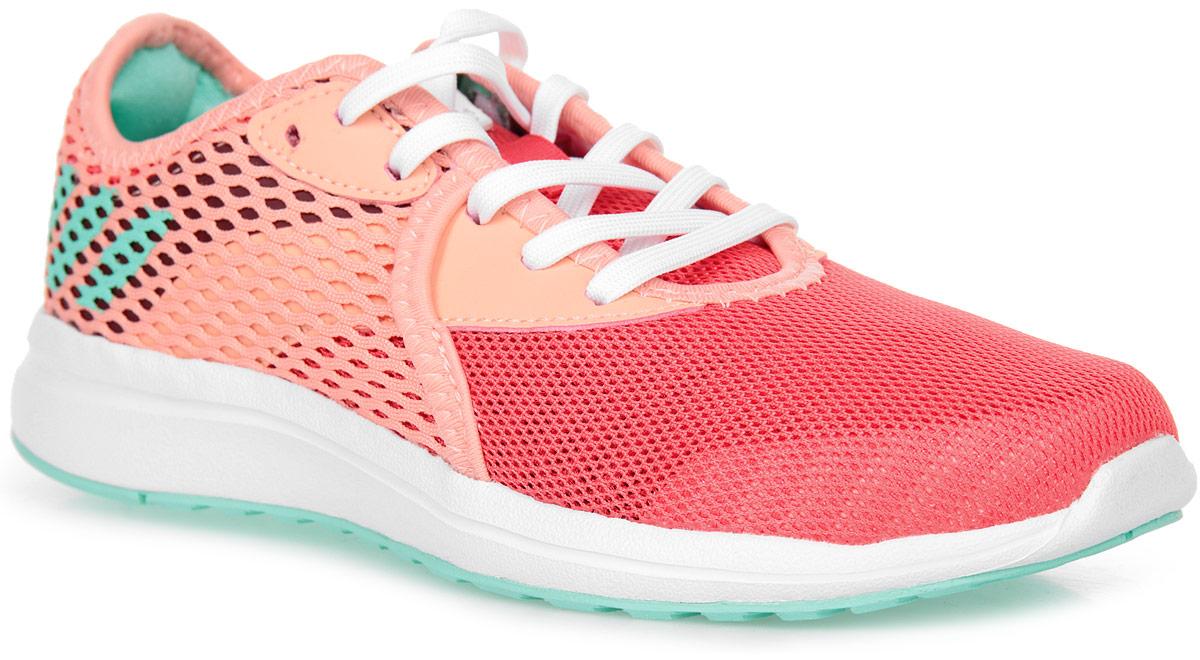 Кроссовки для девочки adidas Durama 2 k, цвет: розовый, красный. BA7412. Размер 28BA7412Детские беговые кроссовки, в которых юным чемпионам будет удобно в течение всего дня. Промежуточная подошва из пенного материала cloudfoam поглощает ударные нагрузки, смягчая каждый шаг и прыжок. Сетчатый верх хорошо вентилирует подвижные ножки. Цепкая резиновая подошва прослужит долгое время.
