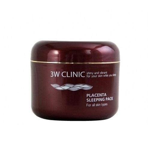 3W Clinic Маска для лица ночная плацентой Placenta Sleeping Pack, 100 мл285542Ночная маска для лица c экстрактом плаценты. Лицо омолаживается за счет естественной стимуляции обменных процессов, обеспечивающих формирование новых клеток кожи. Экстракт плаценты заставляет клетки вспомнить молодость. Маска стимулирует кровообращение в коже, активизирует клеточное дыхание и улучшает метаболизм, способствует перемещению пигмента меланина, находящегося в глубине кожи, к поверхности и удалению его вместе с отшелушивающимся эпидермисом, снимает воспаление, вызванное жарой и ультрафиолетовыми лучами, подавляя локальные отложения меланина, предотвращая формирование пигментных пятен и уменьшая дряблость кожи, способствует сохранению влаги в коже, в том числе при солнечных ожогах и других воздействиях.