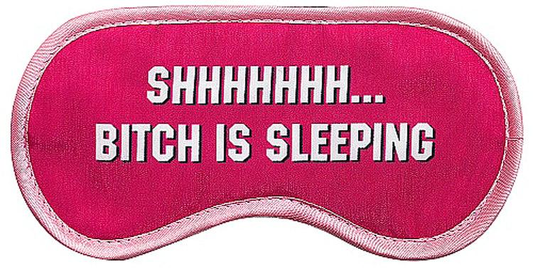 Маска для глаз женская Kawaii Factory Bitch, цвет: розовый. KW086-000980KW086-000980