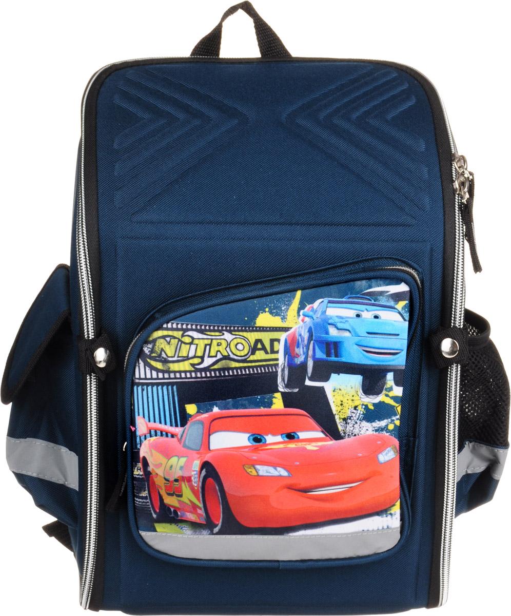 Cars Рюкзак детскийCRCB-ET3-118Детский рюкзак Cars выполнен из износоустойчивых материалов и декорирован ярким рисунком в виде персонажа из известного мультфильма Тачки.Он может полностью раскладываться.Изделие содержит одно вместительное отделение, закрывающееся на застежку-молнию с двумя бегунками. Внутри отделения находятся две мягкие перегородки на резинке и открытый карман-сетка. На лицевой стороне расположен накладной карман на молнии. По бокам находятся два кармана: один закрывается клапаном на липучке, второй - открытый. Жесткий каркас и форма спинки способствуют равномерному распределению нагрузки и формированию правильной осанки. Мягкие анатомические лямки позволяют легко и быстро отрегулировать ранец в соответствии с ростом. У ранца имеется текстильная ручка для переноски в руке. Прочное дно обеспечивает ранцу хорошую устойчивость. Светоотражающие элементы не оставят незамеченным вашего ребенка в темное время суток.С модным рюкзаком Cars ваш ребенок будет звездой!