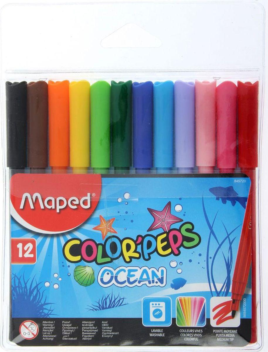 Maped Набор фломастеров Color'Peps Ocean смываемые 12 цветов фломастеры maped jungle 24 цвета