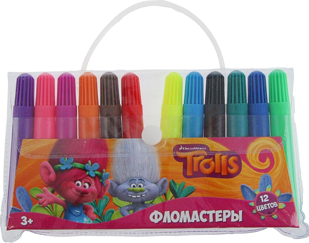 Trolls Набор фломастеров 12 цветов1802684Набор фломастеров Trolls предназначен для маленьких и любознательных малышей. Он включает в себя 12 разноцветных фломастера. Каждый фломастер оснащен вентилируемым колпачком.