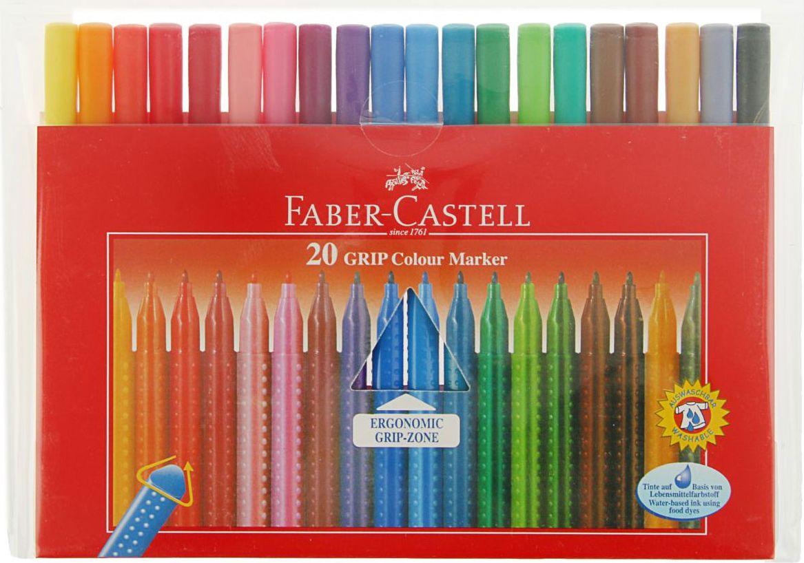 Faber-Castell Набор фломастеров 20 цветов1986297Фломастеры Faber-Castell позволят ребенку создавать самые разнообразные изображения или раскрашивать контурные рисунки. Нетоксичные чернила на водной основе с добавлением пищевых красителей. Если юный художник испачкает одежду или руки, чернила на водной основе с легкостью отстирываются и отмываются с помощью обычного мыла. В наборе 20 фломастеров ярких и насыщенных цветов.