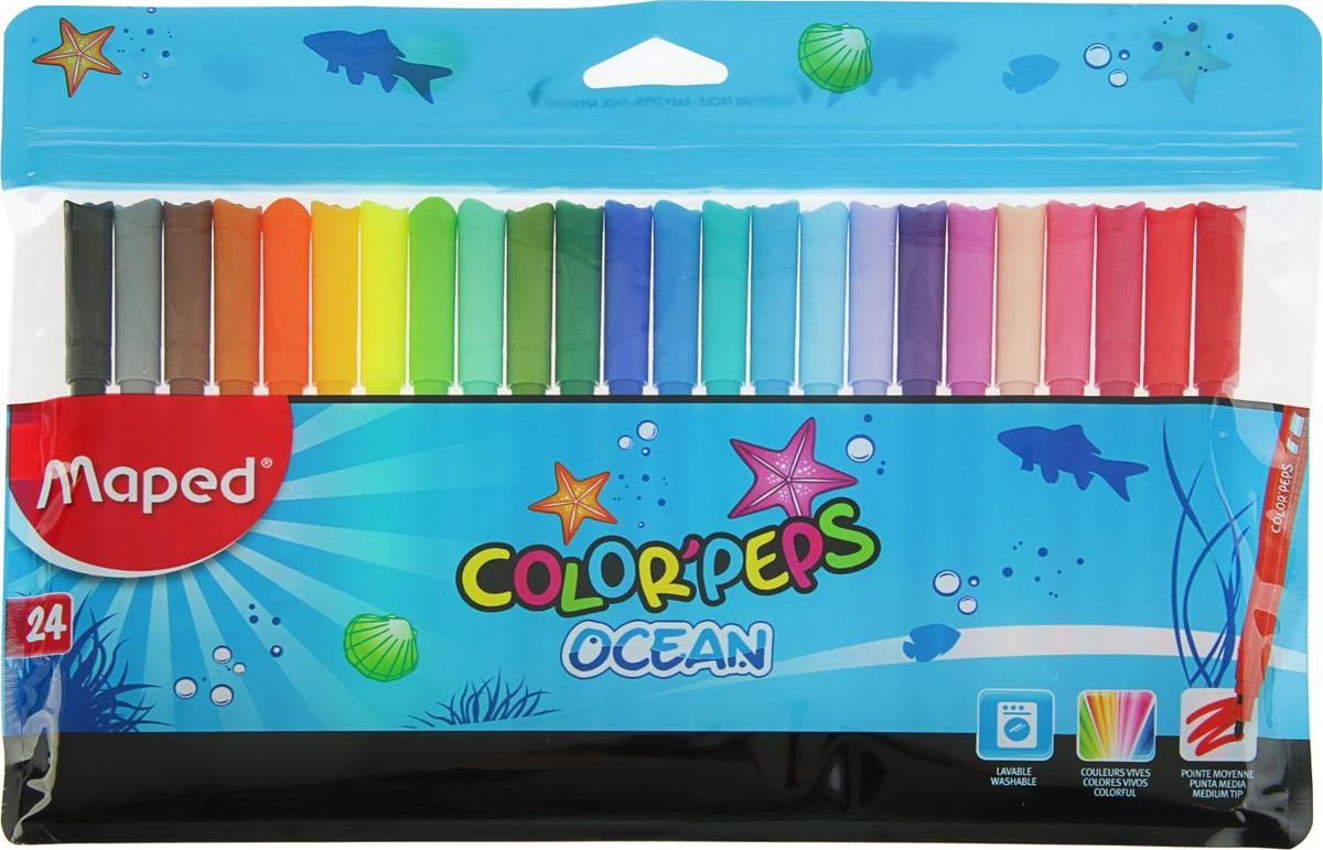 Maped Набор фломастеров Color Peps смываемые 24 цвета2143740