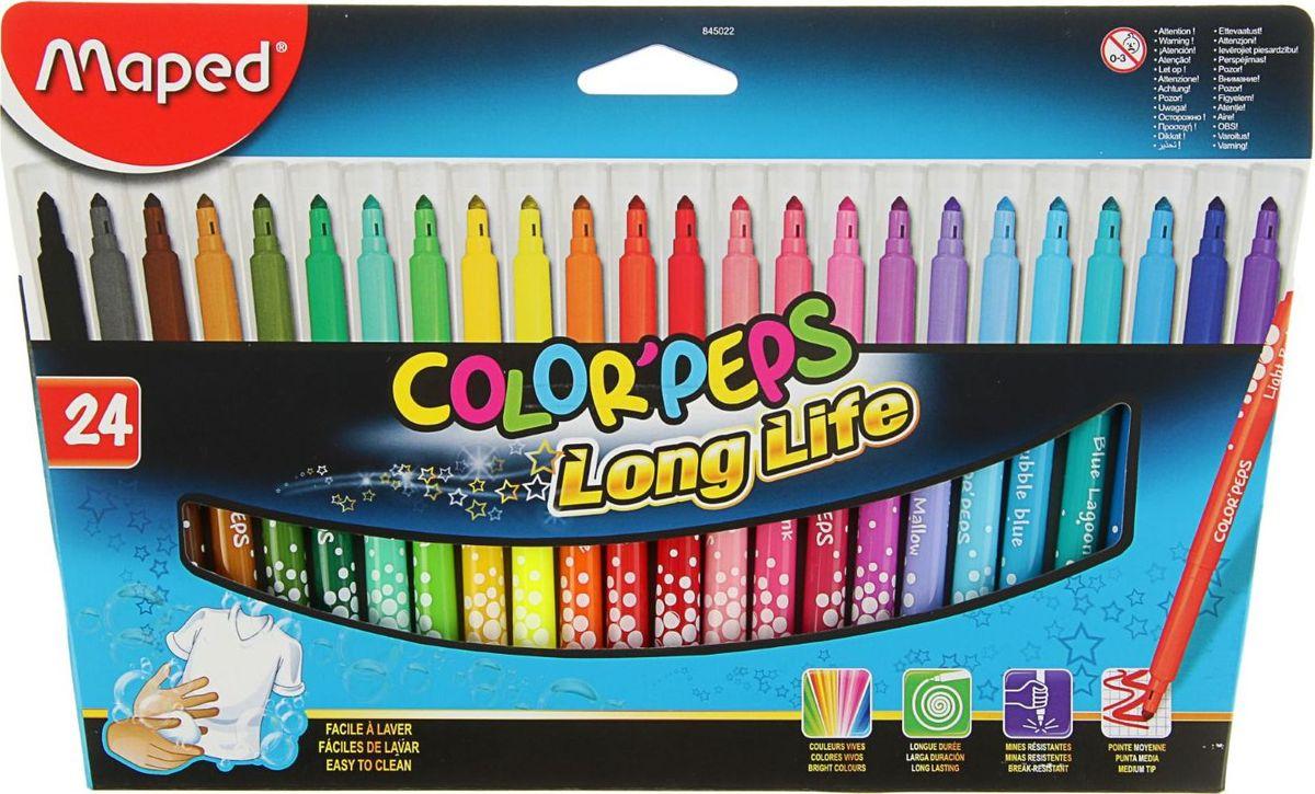 Maped Набор фломастеров Color Peps смываемые 24 цвета 21437412143741
