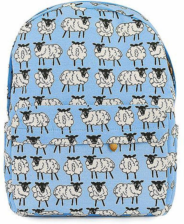 Рюкзак женский Kawaii Factory Овечки, цвет: голубой, белый. KW102-000319 рюкзак женский kawaii factory цвет бордовый kw102 000477