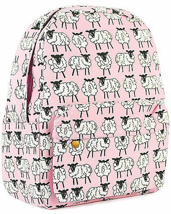 Рюкзак женский Kawaii Factory Овечки, цвет: розовый, белый. KW102-000318KW102-000318Почему бы иногда не включать режим жизнь в розовом цвете? Ничего кардинального, достаточно добавить к образу немного беззаботности! Начать можно с такого полезного аксессуара, как розовый рюкзак Овечки от Kawaii Factory. Модный рюкзак удобен и функционален, сшит из прочного материала. В нем есть все, что нужно: одно основное отделение, закрывающееся на застежку-молнию, два внутренних кармана, один из которых на молнии, а также внешний накладной карман на молнии. По бокам рюкзака имеются небольшие кармашки для различных мелочей. Рюкзак оснащен широкими лямками регулируемой длины и ручкой для переноски в руке. Подойдет этот рюкзак для девушки, которая не сидит на месте и успевает все — и на учебу, и на прогулку, и по магазинам. А с такими пушистыми овечками, вы точно не останетесь без внимания!
