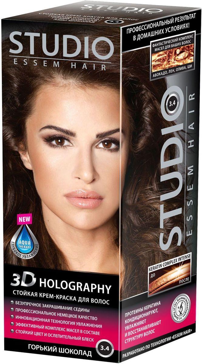 Studio стойкая крем-краска для волос 3Д Голографи 3.4 Горький шоколад 50/50/15 мл03074Насыщенный шоколадный цвет волос выглядит эффектно и ярко! Невероятный блеск, стойкость цвета и максимальное закрашивание седины! Максимальное закрашивание седины Инновационная формула удерживает красящие пигменты на 25% дольше, чем обычная краска Светоотражающие частицы придают неповторимый блеск волосам. Биоактивный коктейль с ценными маслами авокадо, льна, оливы, и карите восстанавливают, питают и насыщают волосы витаминами Кремовая текстура легко распределяется и не течет Молекулы гидролизованного кератина делают волосы потрясающе крепкими и здоровыми Система AQUA therapy с мощным компонентом нового поколения Cutina Shine поддерживает водный баланс волос от корней до кончиков.