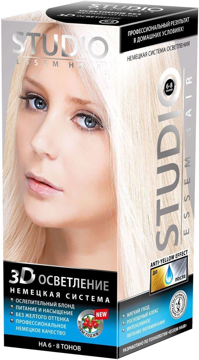 Studio немецкая система осветления 3Д на 6-8 тонов 2 х 25 г/100 мл/25 мл09328Не разрушает структуру волосаБережно нейтрализует красящий пигментСпециальная маска нейтрализует желтый оттенок на волосахМасло Макадамии в составе смягчает, разглаживает, насыщает витаминами и полезными микроэлементами волосы по всей длинеСветоотражающие частицы в составе придают волосам дополнительный играющий блеск. Ослепительный блонд без желтого оттенка!