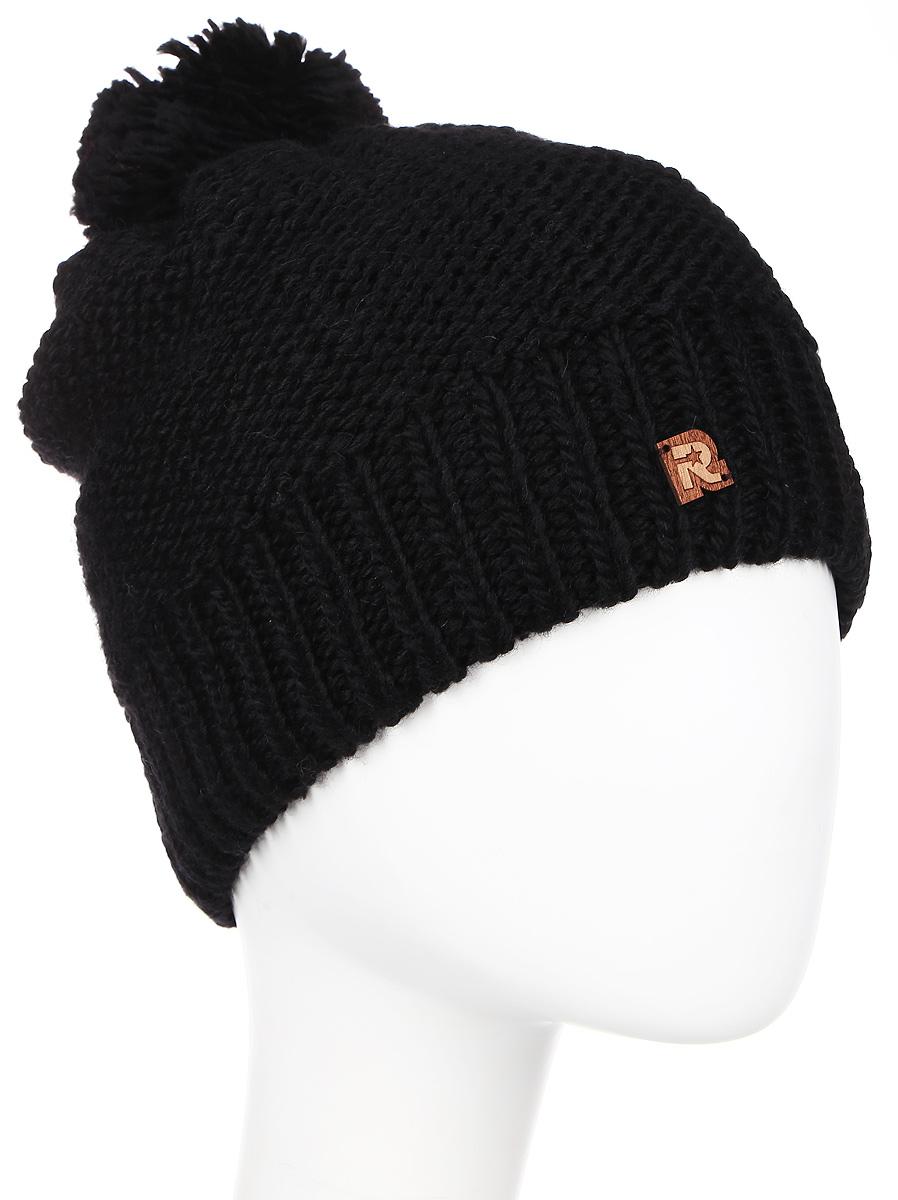 Шапка женская R.Mountain, цвет: черный. ICE 8509. Размер 54/61 шапка canada goose 6194l 61
