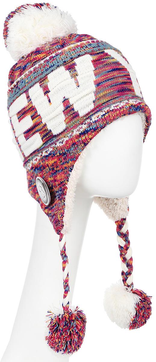 Шапка Robin Ruth New York, цвет: белый, малиновый, серый, желтый. HNY506-E. Размер универсальныйHNY506-EСтильная шапка Robin Ruth с вязаной надписью New York приятно дополнит ваш образ в холодную погоду. Шапка подходит для повседневной носки и для активного зимнего отдыха, а также в качестве подарка вашим родным и знакомым.Внешняя сторона шапки - вязаное полотно, подкладка - мягкий плюшевый мех. Шапка с завязками очень практична - благодаря широким и удлиненным ушкам тепло и комфорт вам обеспечены даже в самую ветреную погоду.Шапка оформлена помпоном, завязки выполнены в виде кос с помпонами на концах и декорирована пластиковым значком с логотипом фирмы. Теплая шапка станет отличным дополнением к вашему гардеробу, в ней вам будет уютно и тепло!