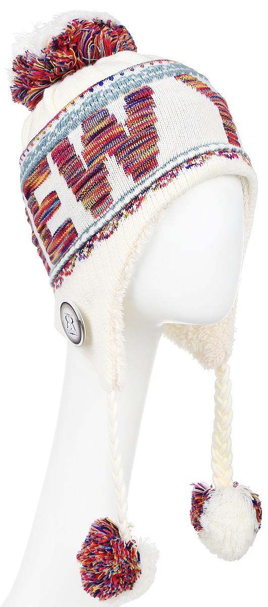Шапка Robin Ruth New York, цвет: белый, бордовый. HNY506-DE. Размер универсальный шапка мужская горнолыжная robin mu sp eisbear