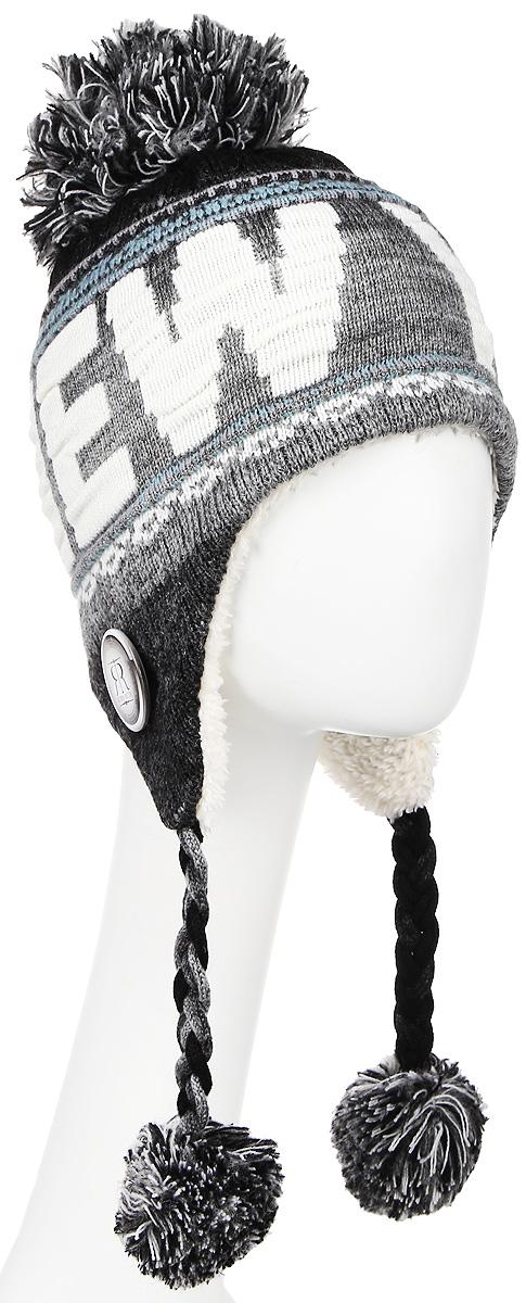 Шапка Robin Ruth New York, цвет: белый, серый, черный. HNY506-Q. Размер универсальный шапки mialt шапка