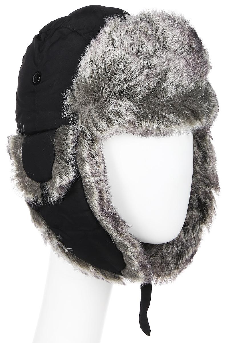 Шапка-ушанка жен. Mutka AXXON, цвет: черный. 2814G. Размер 582814GЖенская шапка ушанка. Материал: полиэстер, подкладка - искусственный мех. Застежка - карабин. Вентиляция в зоне ушей. Теплая модель.