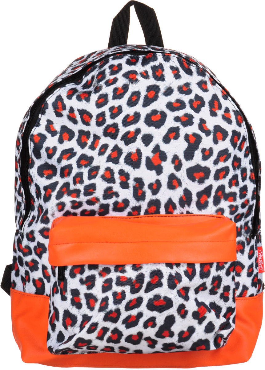 Hatber Рюкзак Basic Leopard StyleNRk_19052Рюкзак Hatber Basic Leopard Style - это современный молодежный рюкзак, отличающийсялегкостью и вместительностью. Изделие выполнено из полиэстера и оформлено леопардовымпринтом.Рюкзак имеет одно основное отделение на застежке-молнии. Внутри расположенкарман для тетрадей. На лицевой стороне рюкзака размещен накладной карман на молнии.Текстильная ручка обеспечивает возможность переноски рюкзака в одной руке. Уплотненные спинка и лямки гарантируют комфорт при любых обстоятельствах. Дно рюкзака также уплотнено.