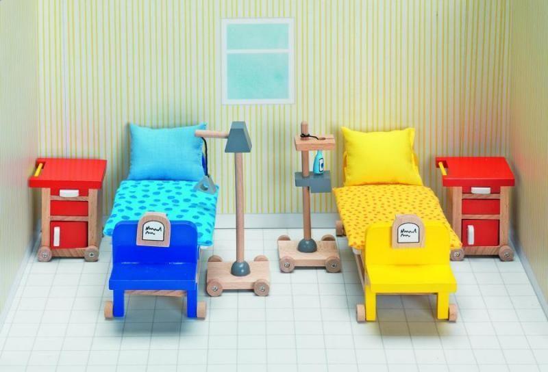 Goki Мебель для кукольной больницы Палата 20 предметов goki мебель для кукольной гостиной 28 предметов
