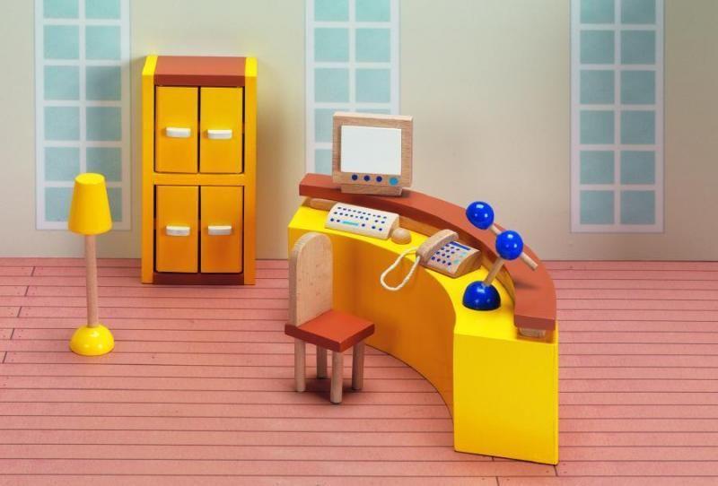 Goki Мебель для кукольной больницы Регистратура 9 предметов goki мебель для кукольной гостиной 28 предметов