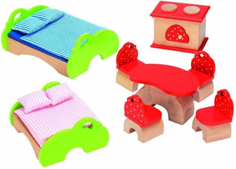 Goki Мебель для кукольной больницы Лесной домик 16 предметов кукол домик