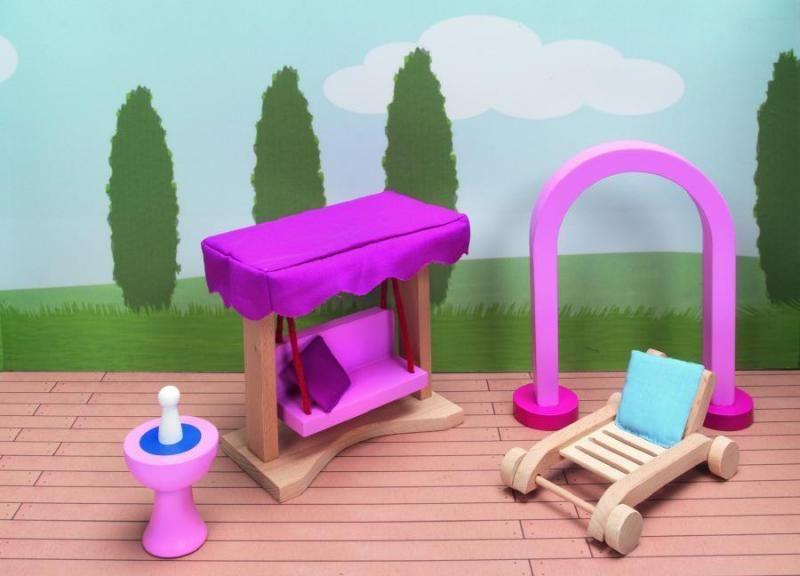 Goki Мебель для кукольной больницы Сад Дворец 6 предметов goki мебель для кукольной гостиной 28 предметов