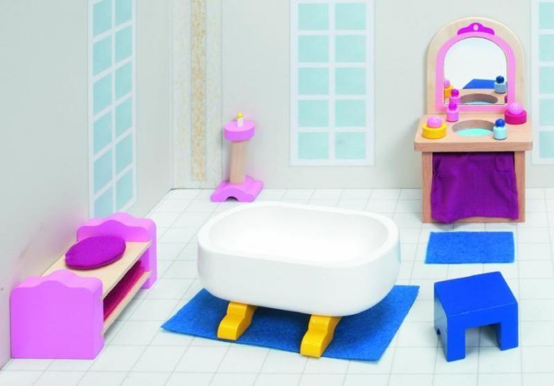 Goki Мебель для кукольной ванной комнаты Дворец 17 предметов goki мебель для кукольной гостиной 28 предметов