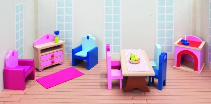Goki Мебель для кукольной гостиной Дворец 24 предмета мебель для гостиной стенки горки