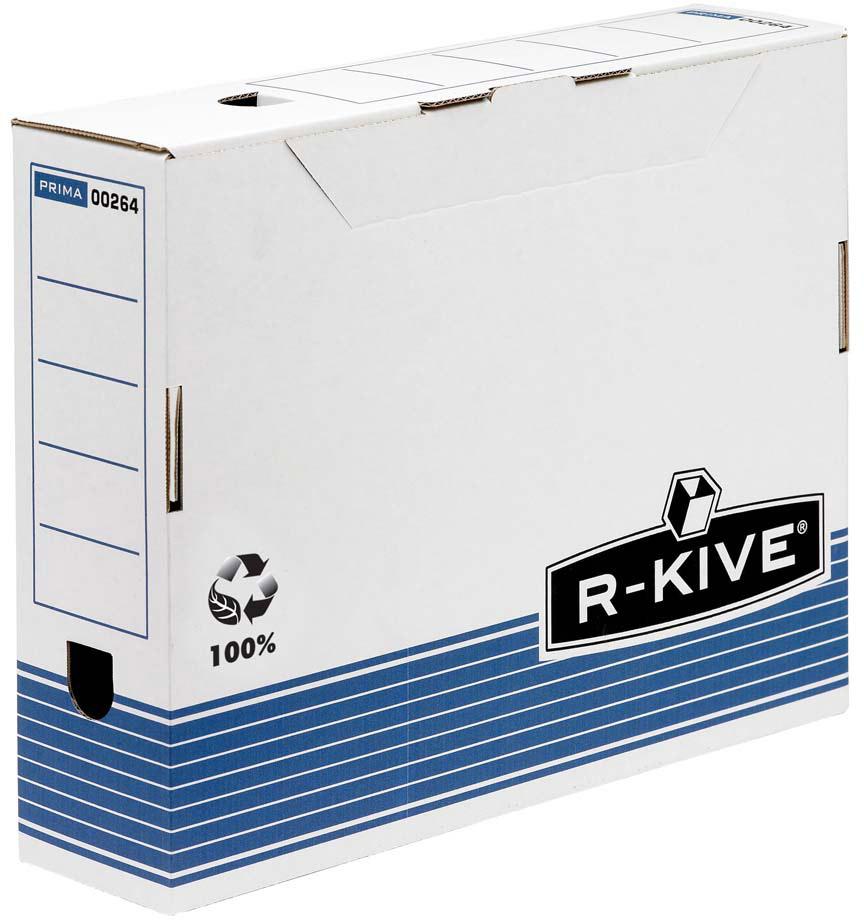 Fellowes R-Kive Prima FS-00264 переносной архивный коробFS-00264Переносной короб R-Kive Prima 80 мм FS-00264 (с прочным замком) предназначен для хранения различных документов формата А4. Прочная конструкция из картона. Для нанесения меток на короб используются поля на передней и задней стенках. Идеально подойдет для любого офисного интерьера и поможет правильно организовать рабочее пространство. Мгновенная сборка за счет технологии FastFold.