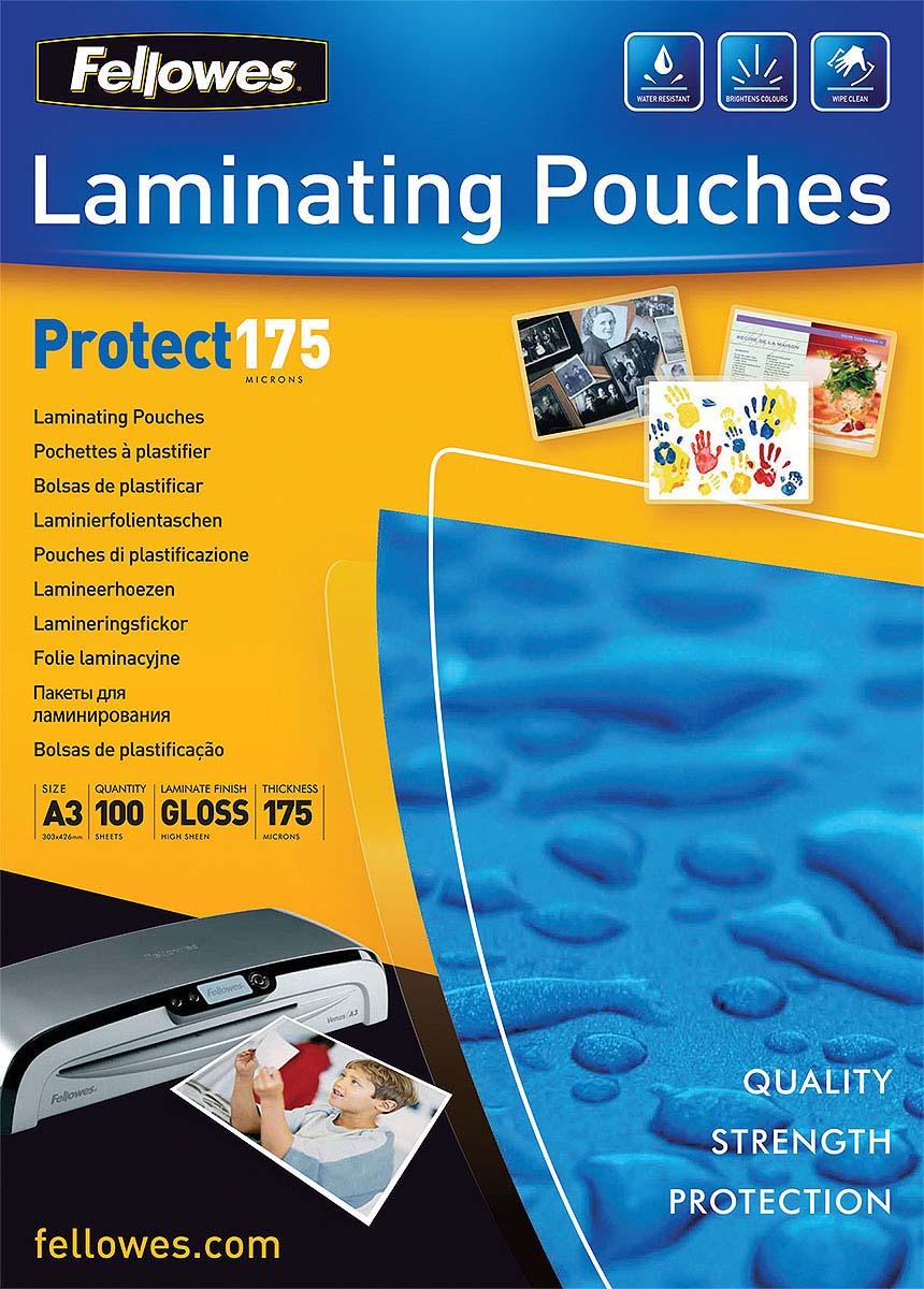 Fellowes А3 FS-53088 пленка для ламинирования, 175 мкм (100 шт)FS-53088Пленка для горячего ламинирования глянцевая, с высоким содержанием полиэстера (50%). Используется для защиты документов от влаги, загрязнения, механических повреждений, придания жесткости и яркости. Обладает высокой прозрачностью.