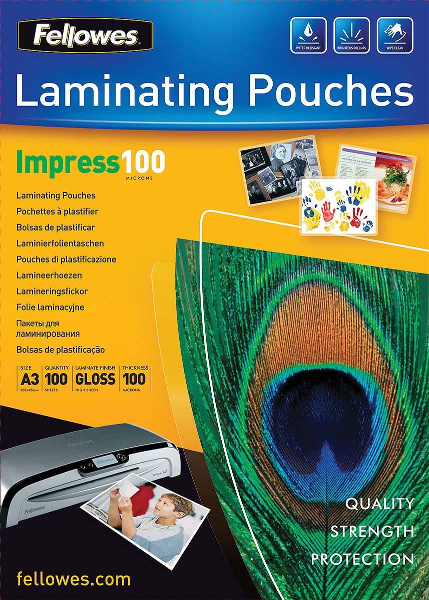 Fellowes A3 FS-53512 пленка для ламинирования, 100 мкм (100 шт) - Расходные материалы