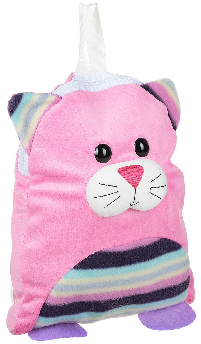 Fancy Рюкзак дошкольный КотенокRKT01Легкий и компактный дошкольный рюкзачок Fancy - это красивый и удобный аксессуар для вашего ребенка. Рюкзак выполнен в виде милой кошечки с пластиковыми глазками. Кошечка дополнена декоративными ушками и лапками. Рюкзак состоит из одного отделения на застежке-молнии. В отделении легко поместятся не только игрушки, но даже тетрадка или книжка. Благодаря регулируемым лямкам, рюкзачок подходит детям любого роста. Текстильная ручка помогает носить аксессуар в руке или размещать на вешалке.