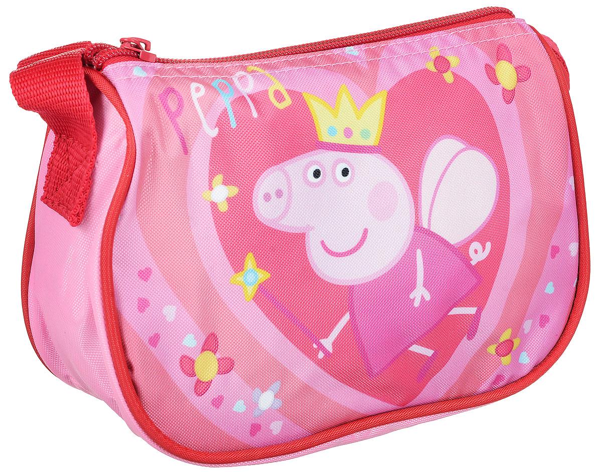 Peppa Pig Сумка детская Королева29948Детская сумка Peppa Pig Королева обязательно понравится каждой любительнице этого популярного мультфильма. Сумка выполнена из прочного полиэстера и украшена изображением свинки Пеппы с короной (сублимированная печать). Сумка имеет одно отделение на молнии и регулируемую по высоте лямку для ношения на плече, таким образом, сумка будет с девочкой на протяжении многих лет. Порадуйте свою малышку таким замечательным подарком!