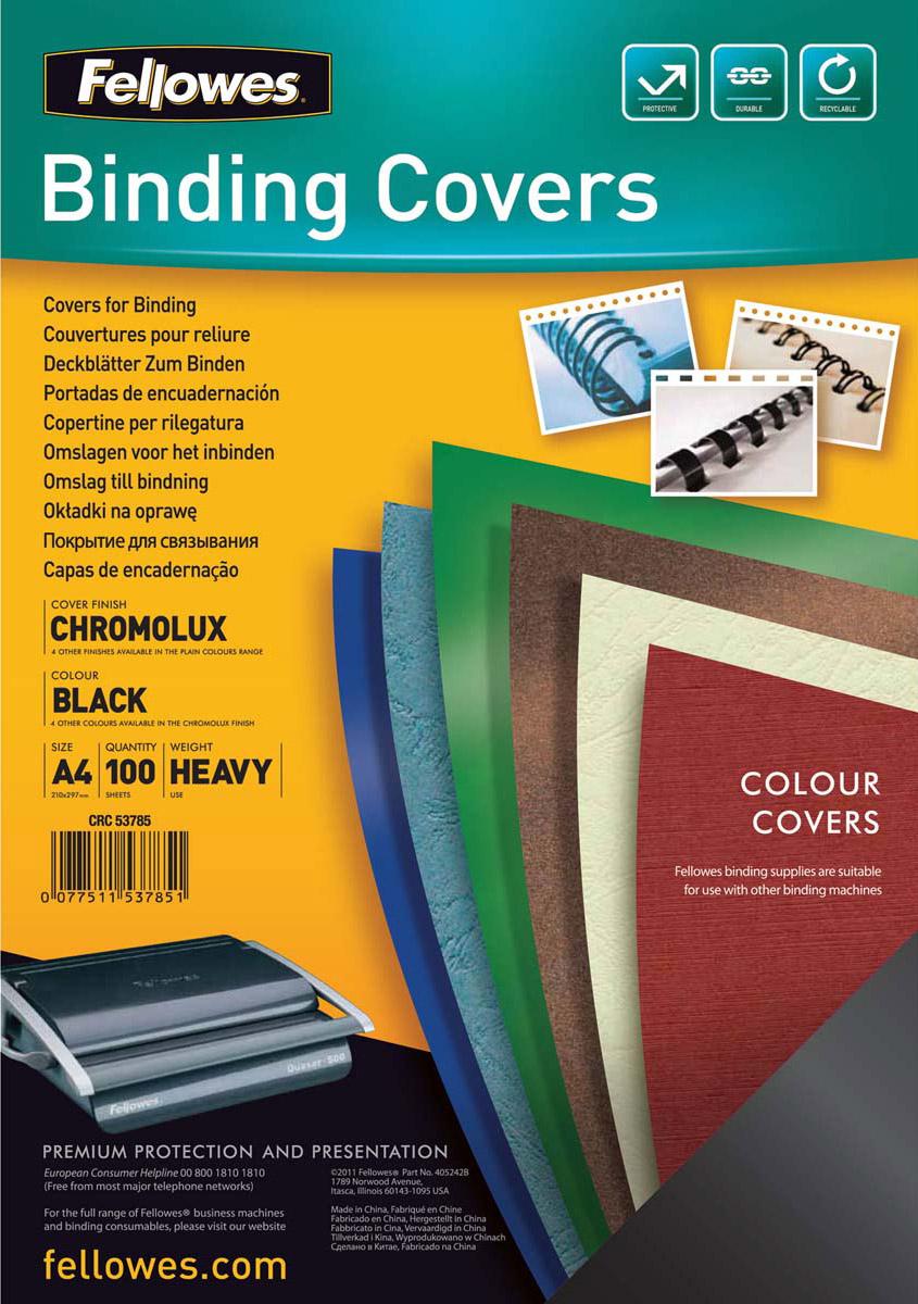 Fellowes Chromo A4, Black обложка для переплета (100 шт)