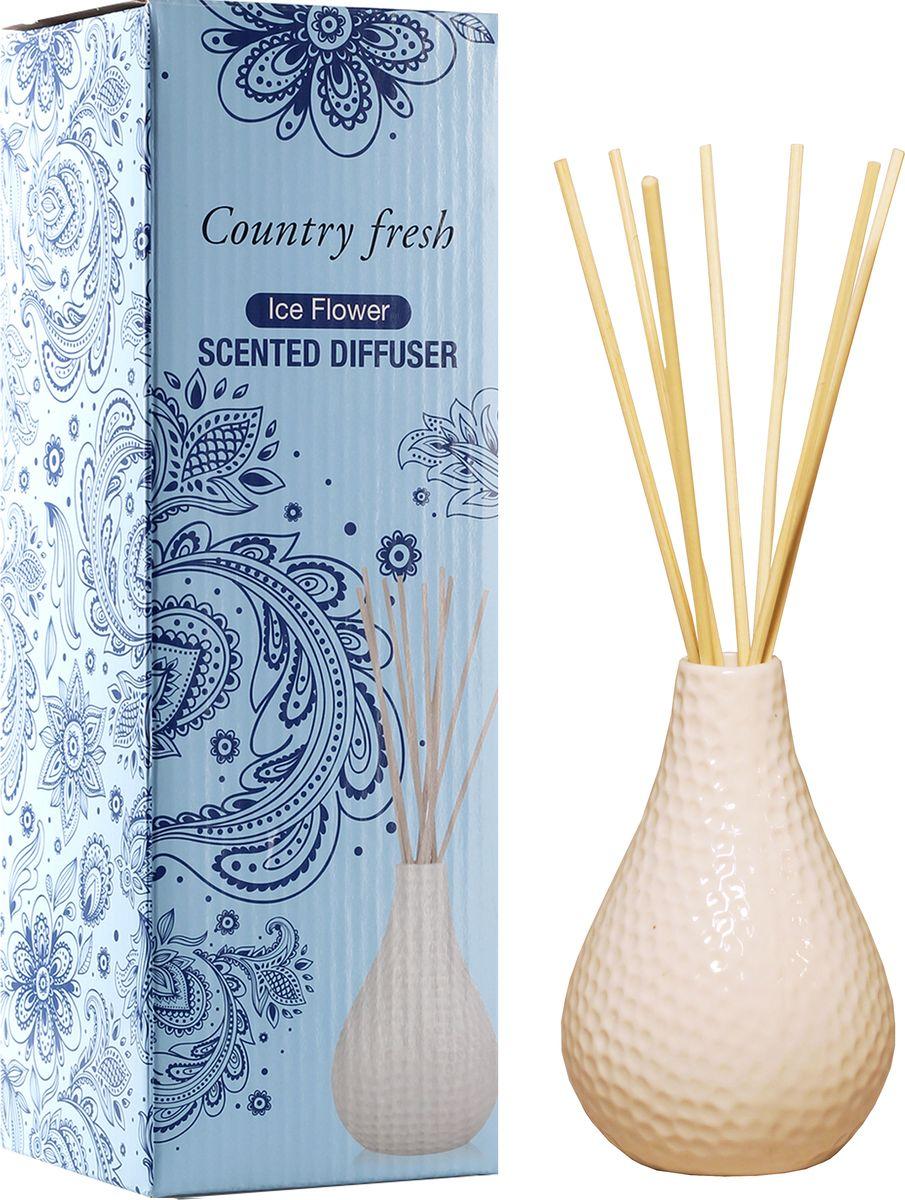 Диффузор ароматический Country Fresh Ice Flower, 150 млNPD15001Ароматический диффузор Country Fresh Ice Flower - это простое, изящное и долговременное решение, как наполнить дом или офис приятным запахом. В комплект входит керамическая ваза, семь ротанговых палочек и сосуд с ароматической жидкостью.Диффузор- это не просто освежитель воздуха, а элемент декора, который окутает вас своим приятным нежным ароматом. Отлично подойдет в качестве подарка. Способ применения: поместите ротанговые палочки в керамическую вазу с ароматической жидкостью. Степень интенсивности запаха может регулироваться объемом ароматической жидкости и количеством палочек. Ароматическая жидкость не содержат спирта. Высота вазы: 12 см. Диаметр вазы (по верхнему краю): 2см. Длина палочек: 12 см.Товар сертифицирован.