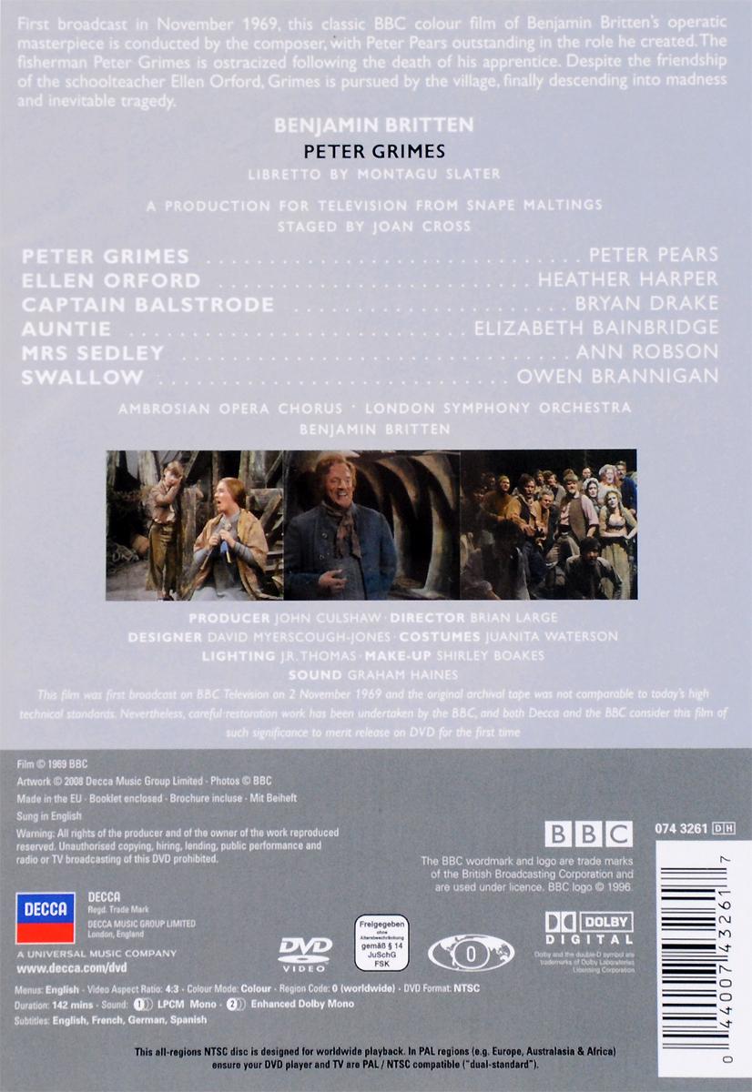 Britten:  Peter Grimes:  The Britten - Pears Collection Decca