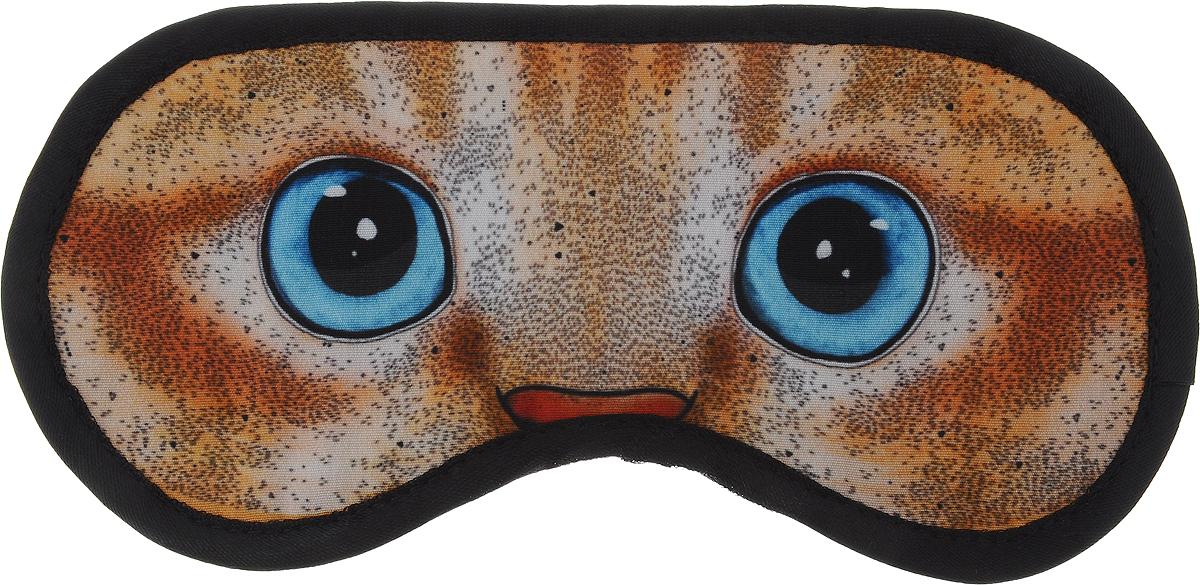 Маска для глаз Kawaii Factory Котенок, цвет: оранжевый, голубой. KW086-000906 шарфы kawaii factory шарф объемный серый