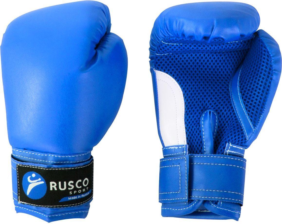 Перчатки боксерские Rusco, цвет: синий. Вес 4 унции пояса rusco пояс для единоборств rusco 280 см коричневый