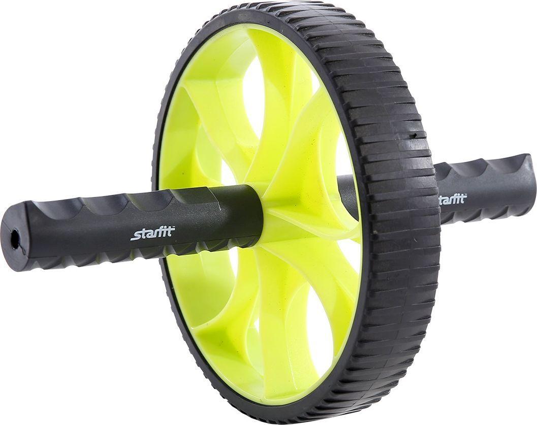 Ролик для пресса Starfit RL-103, цвет: зеленый, черныйУТ-00009811Ролик для пресса Starfit - фитнес-снаряд для комплексного укрепления мышц кора и брюшного пресса. Прочные ручки эргономичной формы обеспечивают наилучший захват. Твердое пластиковое покрытие роликового колеса устойчиво к истиранию при интенсивных тренировках. Яркий дизайн привлечет внимание как женской, так и мужской аудитории. Внутренний диаметр: 15,6 см.Внешний диаметр: 17,5 см.Ширина колеса: 3,3 см.Длина ручки: 10,5 см.Диаметр ручки: 2,5 см.Максимальная нагрузка: 200 кг.