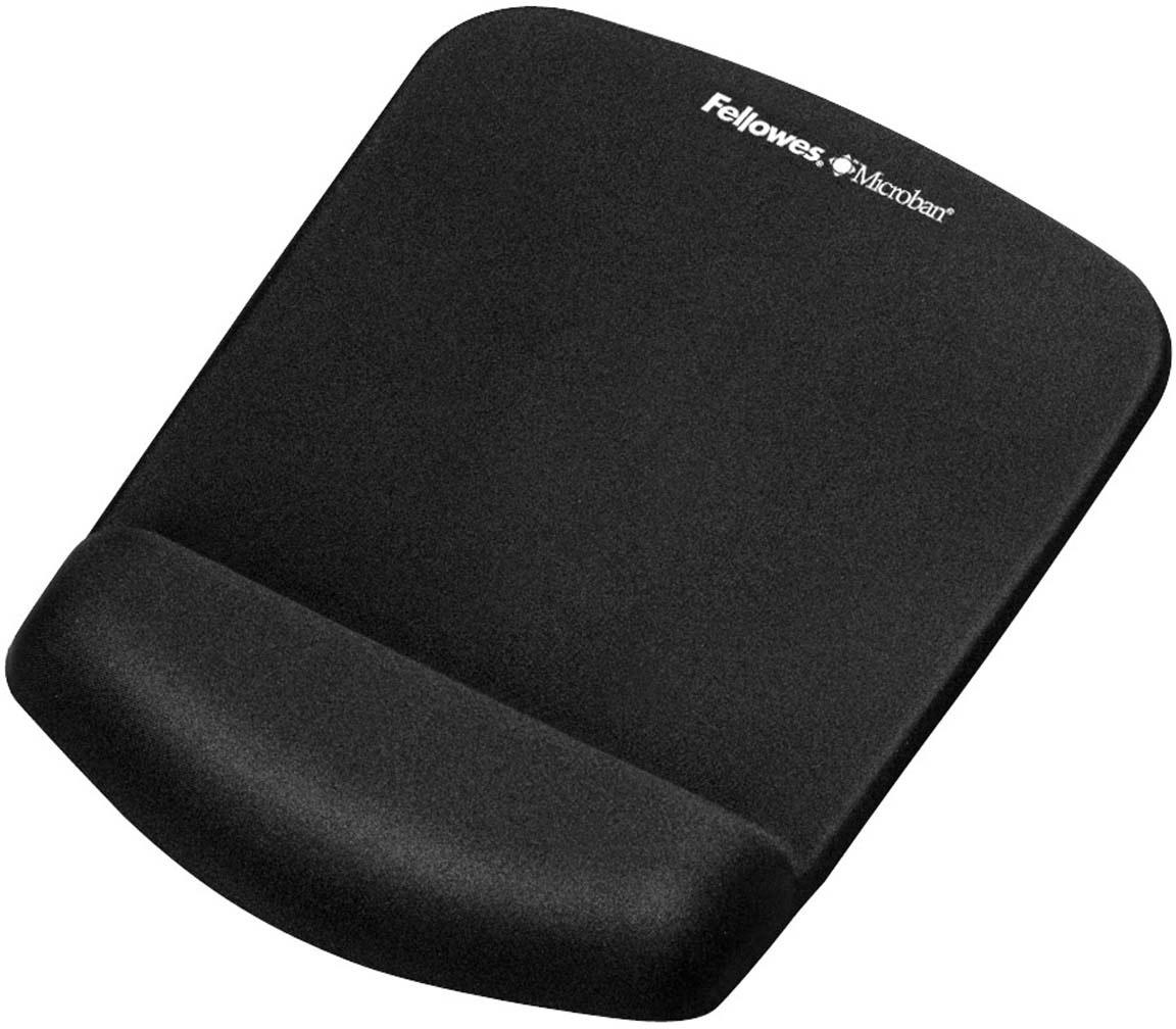 Fellowes PlushTouch, Black коврик для мышиFS-92520Коврик Fellowes PlushTouch подходит для всех видов компьютерных мышей.Благодаря стильному дизайну и цветовому решению, коврик станет украшением вашего рабочего места.Инновационная технология FoamFusion - мягкое пенное основание повторяет контуры запястья и запоминает их, обеспечивая максимальный комфорт при работе.Антибактериальное покрытие Microban - подавляет развитие болезнетворных микроорганизмов на поверхности коврика.