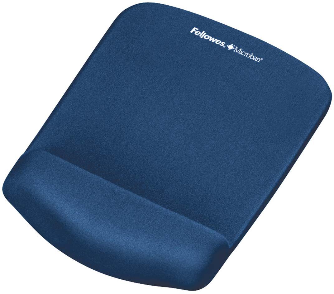 Fellowes PlushTouch, Blue коврик для мышиFS-92873Коврик Fellowes PlushTouch подходит для всех видов компьютерных мышей.Благодаря стильному дизайну и цветовому решению, коврик станет украшением вашего рабочего места.Инновационная технология FoamFusion - мягкое пенное основание повторяет контуры запястья и запоминает их, обеспечивая максимальный комфорт при работе.Антибактериальное покрытие Microban - подавляет развитие болезнетворных микроорганизмов на поверхности коврика.
