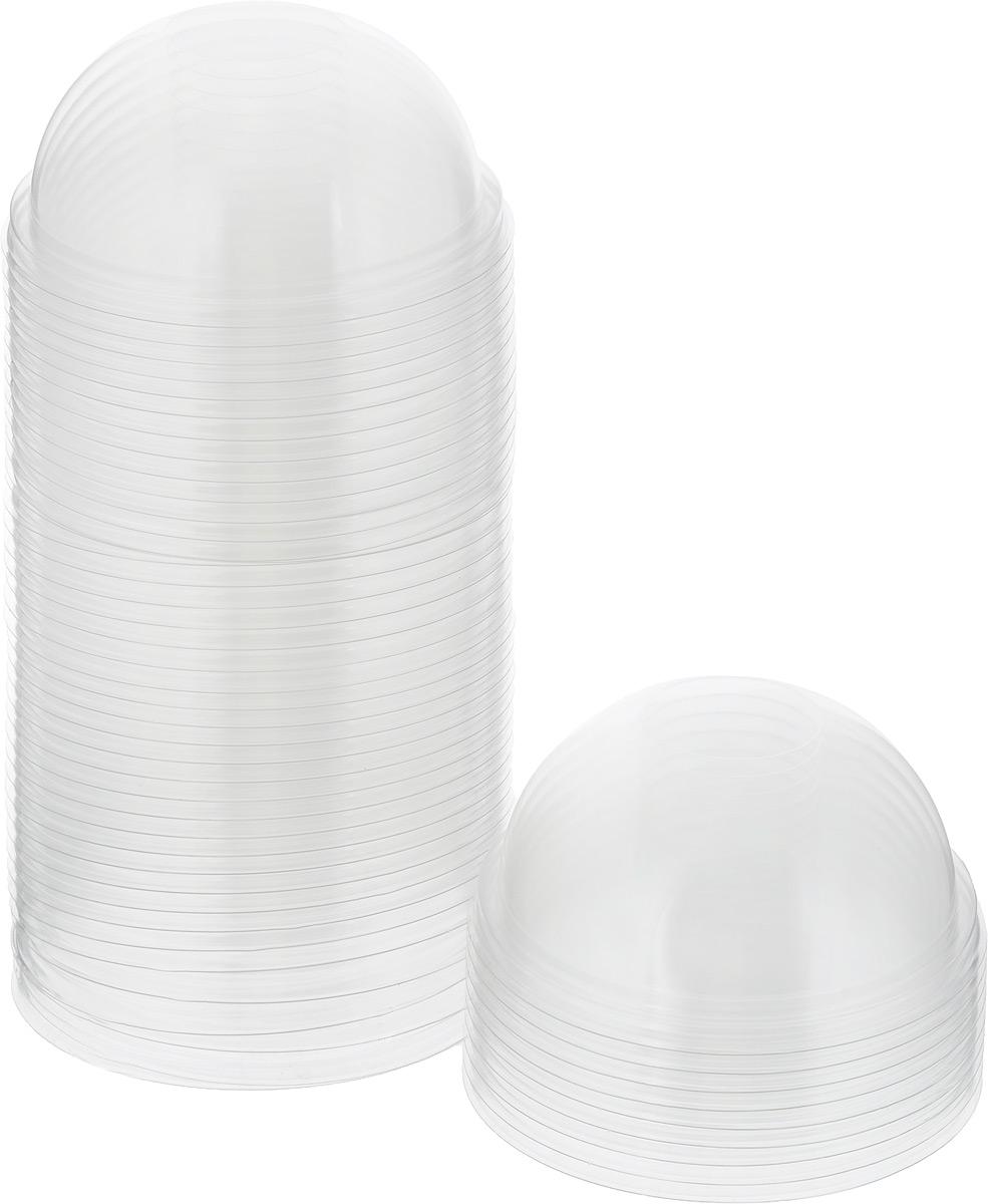 """Одноразовые крышки для стакана """"Стироллпласт"""" изготовлены из материала ПЭТ (полиэтилентерефталат). Крышки имеют форму купола и подойдут для всех одноразовых стаканов диаметром 95 мм.  Одноразовая посуда незаменима в поездках на природу, на пикниках, а также на детских праздниках. Она не занимает много места, легкая и самое главное - после использования ее не надо мыть.  Диаметр крышки: 9,5 см.  Высота крышки: 4,5 см."""