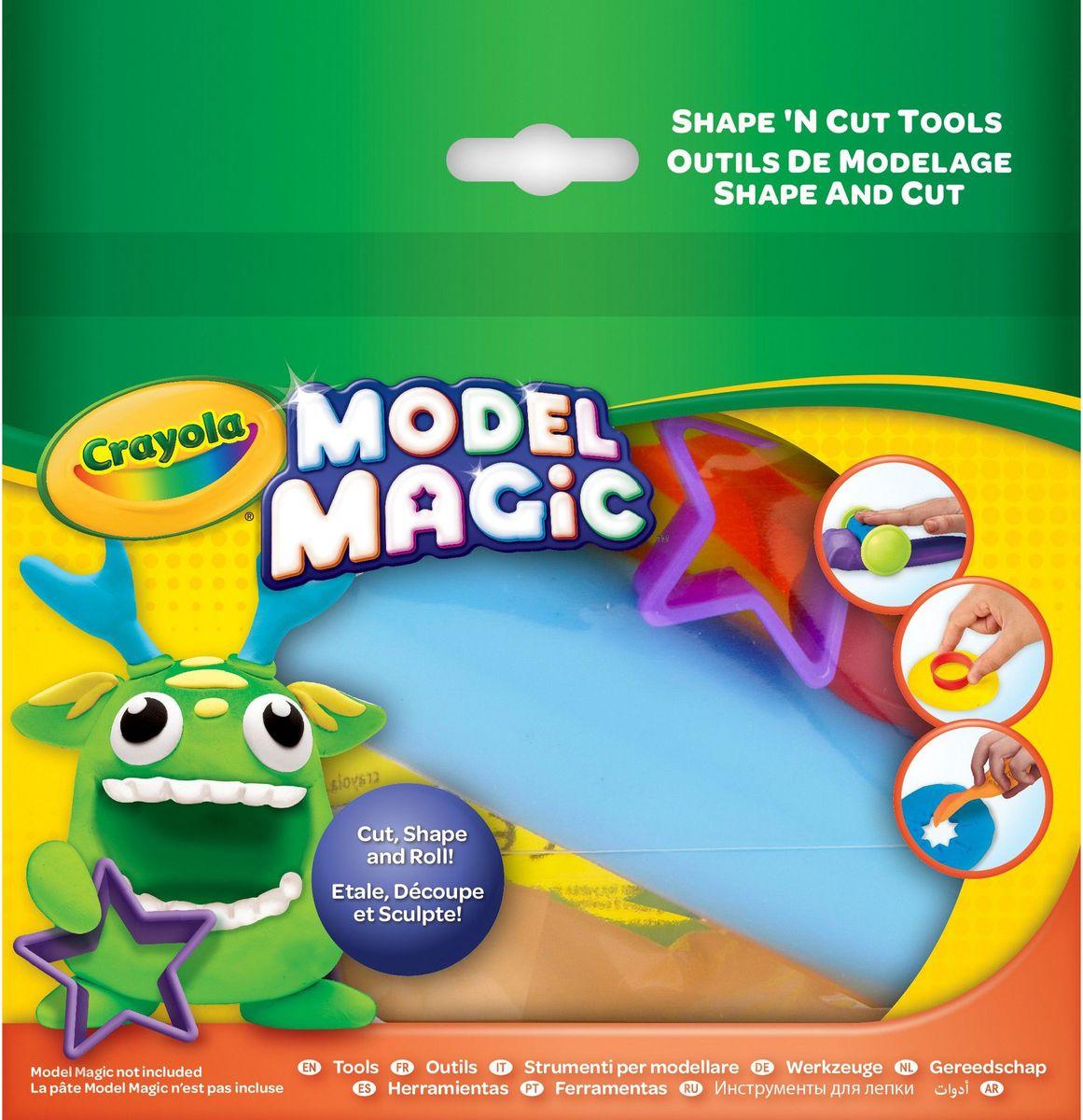 Crayola Набор инструментов для лепки пластилином23-3304Набор инструментов для лепки Crayola предназначен для деток, которым уже исполнилось четыре года. Яркие фигурки, по форме напоминающие сердечко, звездочку, кружочек, а также удобную раскатку для пластилина, помогут вашему малышу создать чудесные фигурки зверюшек, фруктиков, овощей и многое другое, что придет ему в голову. С данным набором инструментов ребенку будет не сложно придумать, что он будет лепить сегодня. Данный набор включает в себя шесть приспособление для лепки, выполненных из пластмассы высокого качества в насыщенных цветах. Упаковка квадратной формы сможет поразить малыша своими выразительными цветами.
